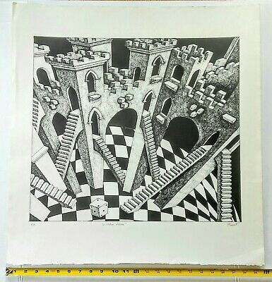 $77.50 • Buy M.c.escher Style Lithograph-look !
