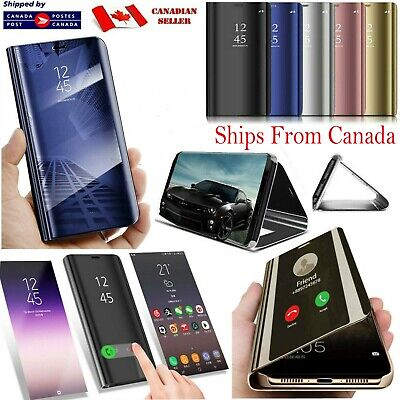 $ CDN8.99 • Buy For Samsung Galaxy Note 8 9 10 10+ S9 S8 Plus Case Smart Mirror View Flip Cover