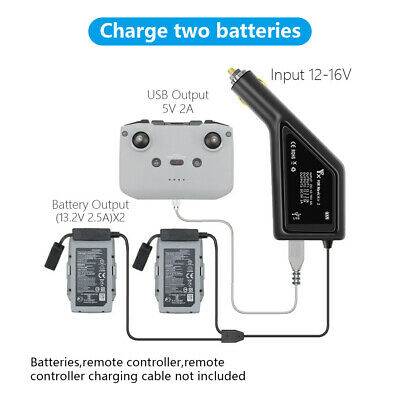 AU38.90 • Buy 3in1 Car Charger For DJI Mavic Air 2 Remote Control & Battery Charging HUB