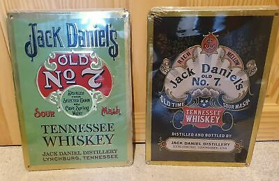 Official Jack Daniels Legacy 1 & 2 Tin Signs UK Released Collectors Item • 19.99£