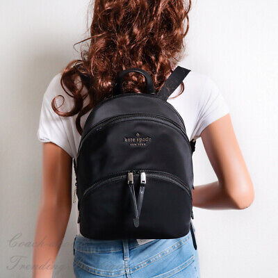 $ CDN150.56 • Buy NWT Kate Spade Karissa Nylon Medium Backpack In Black