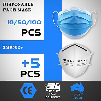 AU39.99 • Buy 50 / 100pc Mask Daily Protective Face Mask Meltblown Filter 3 Layer AU IN STOCK
