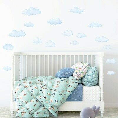£9.95 • Buy Decowall DS-8030 Clouds Kids Baby Nursery Removable Wall Stickers Decal