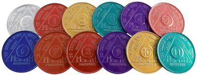 $9.99 • Buy Alcoholics Anonymous (AA) - 24 Hrs - 1 Year Coins - 13 Coins Total - Set - New