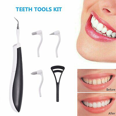 £7.59 • Buy Electric Teeth Stains Cleaner Ultrasonic Oral Dental Tooth Cleaning Kit UK Stock