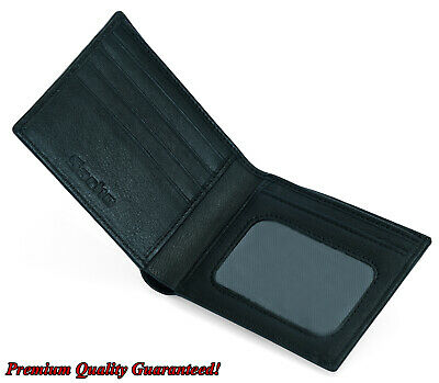 AU17.99 • Buy Mens GENUINE Leather Wallet Slim RFID Blocking Bifold Pocket Purse Card Holder