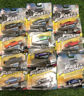 Fast & Furious Diecast Cars Boxed And Rare Toys 1:55 Mattel • 7.99£