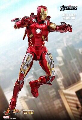 AU720 • Buy THE AVENGERS IRON MAN MARK VII Mark 7 1/6TH SCALE Diecast FIGURE MMS500D27