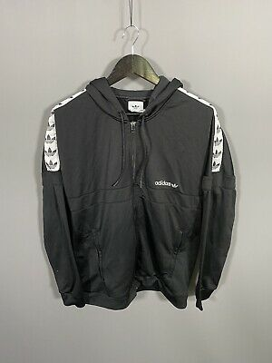 £39.99 • Buy ADIDAS HOODED FIREBIRD Track Top - Size Large - Black - Great Condition - Men's