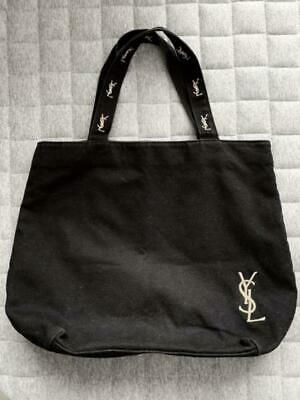 Yves Saint Laurent Canvas Tote Bag Black X Pink Women's Bags Gold Embroidery • 39.34£