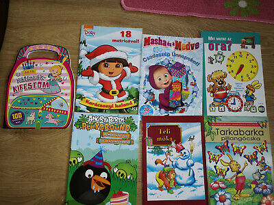 Hungarian Childrens Activity Book Kids Colouring,Learning Clock,numbers,magyar • 9.99£