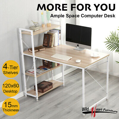 AU119.95 • Buy Computer Desk With Bookcase Office Home Workstation Study Table Storage