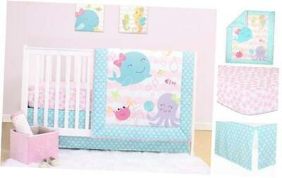 $64.24 • Buy The Peanutshell Sea Sweeties Crib Bedding Sets For Baby Girls | 3 Piece Nursery