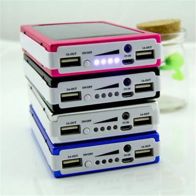 AU11.01 • Buy Universal Portable 300000mAh Solar Power Bank For Phone Dual USB Battery Charger