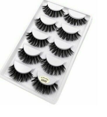 NEW 5 Pair 3D Mink False Eyelashes Wispy Cross Long Thick Soft Fake Eye Lashes • 3.95£