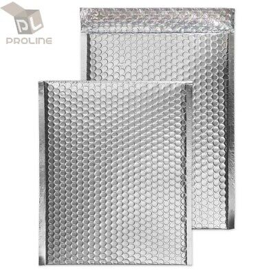 $12.95 • Buy 50 #000 Glamour Metallic Silver Poly Bubble Mailers Envelopes 4x8 Extra Wide