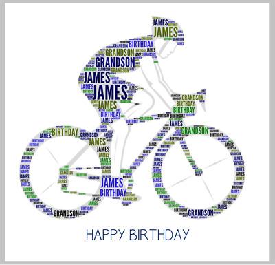 £3.45 • Buy Personalised Card Cycling Cycle Bike Happy Birthday Retirement Any Name Relation