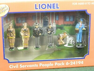 $29.99 • Buy Lionel O Scale #6-24194 Civil Service Metal People Pack Painted For Trains Nib