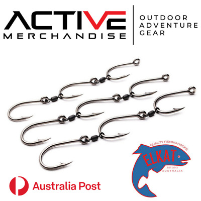 AU12 • Buy ELKAT GANG HOOKS 3 Sets Per Pack Assembled In Australia Various Sizes!!