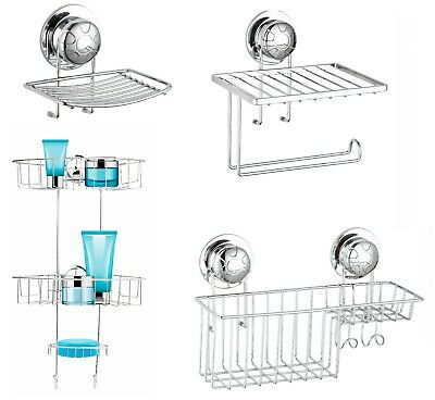 £9.95 • Buy Suction Cup NO DRILLING Bathroom Shower Wall Storage Caddy Soap Dish Tray Tidy