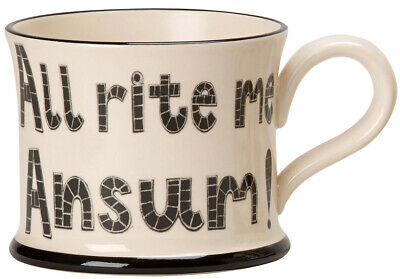 £17.25 • Buy  All Rite Me Ansum!  Mug By Moorland Pottery, Kernow Ware