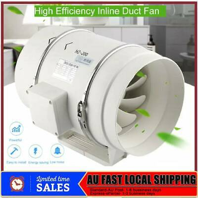 AU85.68 • Buy 8  Hydroponic Inline Ventilation Tube Duct Fan With Speed Controller Power Switc