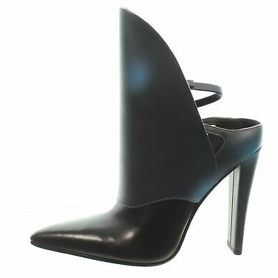 AU173.99 • Buy ALEXANDER WANG Pointed Toe Black Leather Ankle Boots, UK 2 US 5 EU 35