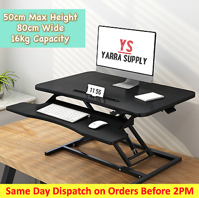 AU178 • Buy Standup Desk Riser For Home Office Table Sit Stand Height Adjustable 80cm