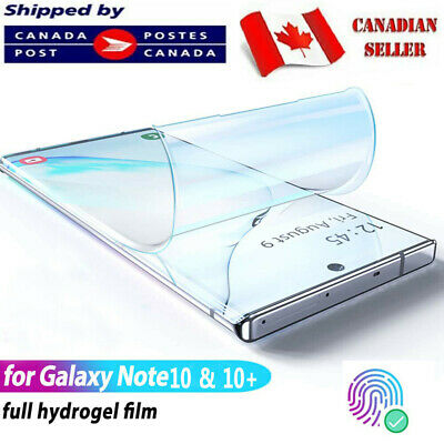 $ CDN5.45 • Buy For Samsung Galaxy Note 8 9 10 + Plus Hydrogel Full Coverage Screen Protector