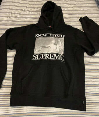 $ CDN229.09 • Buy Authentic Supreme Hoodie Large - Know Thy Self