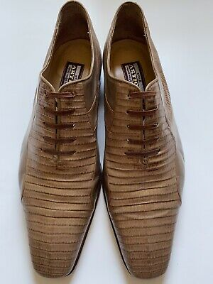 $ CDN267.25 • Buy Men Star Artioli Lizard Leather Salvatore Loafers Shoes Sz 8 W/ Bally Shoes Bag