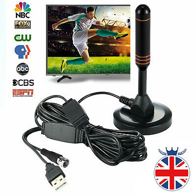 Digital TV Antenna With Magnetic Base Indoor Outdoor HD Freeview Aerial Ariel • 8.37£