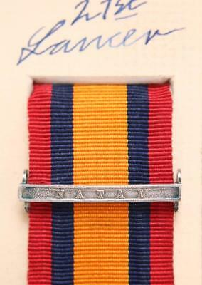 AU15.14 • Buy Qsa Queens South Africa Medal Ribbon Bar Clasp Natal Boer War Campaign