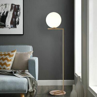 Gold White Metal LED Tall Floor Lamp Stand Light Table Living Room Beauty Salon • 276.16£