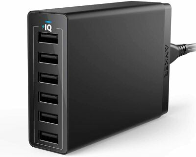 AU74.52 • Buy 60W 6-Port USB | Wall Charger, Powerport 6 For IPhone X/ 8/7 / 6S / Plus, IPad
