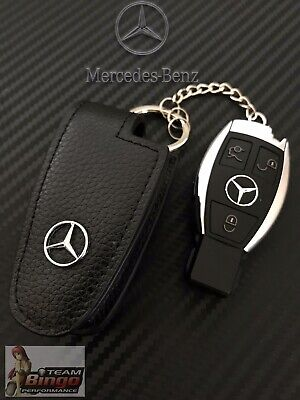 AU24.99 • Buy Mercedes Benz & AMG Perfect Fit Leather Key Case Key Fob Holder AUD Stock 🇦🇺