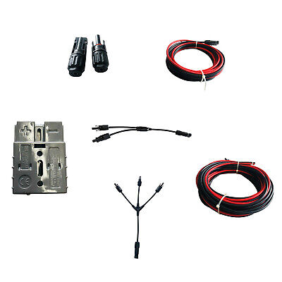 AU14.95 • Buy 50A6AWGPlug2/3in1YBranchCableConnector5/10MSolarPanelExtensionWire