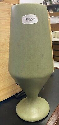 $14.95 • Buy Haeger Green Pedestal Mid Century Speckled Planter Vase Vintage Art Pottery