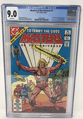 $149.99 • Buy Masters Of The Universe 1 CGC 9.0 He-Man Skeletor 1st Comic DC Mattel 1982