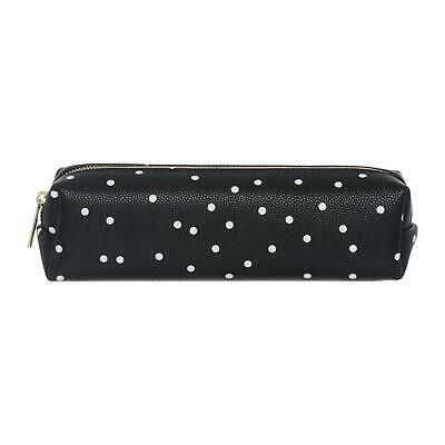 £7.99 • Buy WHSmith Henley Monochrome Dot Square Pencil Case With Gold Exposed Zip