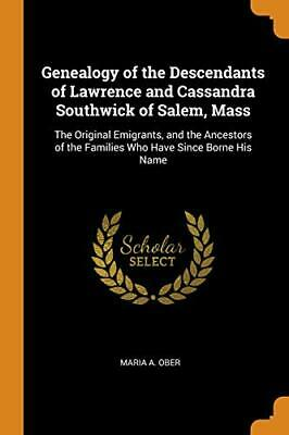 Genealogy Of The Descendants Of Lawrence And Ca. Ober<| • 32.16£