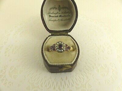 £495 • Buy 9ct Gold Pearl & Garnet Ring Antique Georgian Size L  Boxed