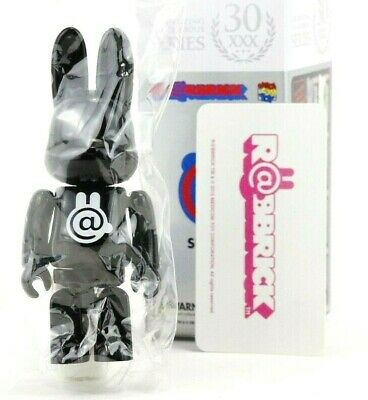 $116.99 • Buy Medicom Bearbrick Be@rbrick 100% Series 30 Secret Rabbrick Black Gloss R@bbrick