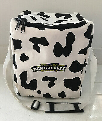 Ben & Jerrys Cool Bag - Cow Print Insulated Adjustable Strap Ice Cream • 14.99£