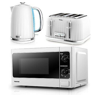 £179.99 • Buy Breville Impressions Electric Kettle And Toaster Combo With Toshiba Microwave