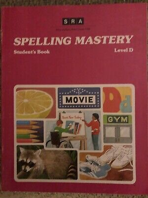 AU19.12 • Buy SRA SPELLING MASTERY: STUDENT'S WORKBOOK, LEVEL D  *Excellent Condition*