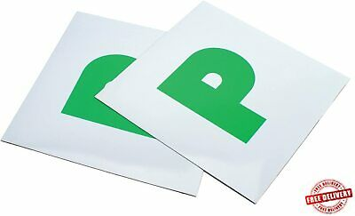 New Driver P 2 X Plates Stickers Safety Car Just Passed Magnetic Legal Signs • 1.96£