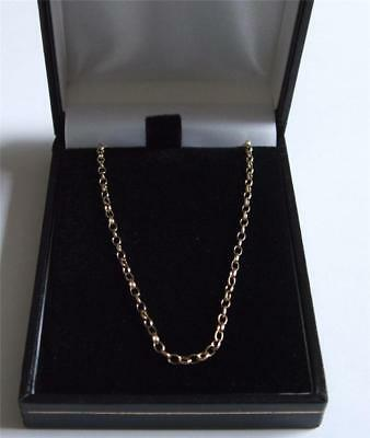 New 9Ct Gold 1.7mm 18 Inch Trace Necklet Chain 3 Grams Hallmarked View Photos • 180.40£