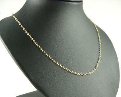 New 9Ct Gold 1.4mm 24 Inch Trace Necklet Chain 2.4 Grams Hallmarked View Photos • 141.72£