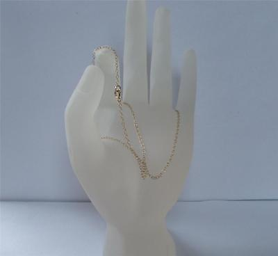New 9Ct Gold 1 Mm 18 Inch Trace Necklet Chain 1 Gram Please View Photos • 59.29£
